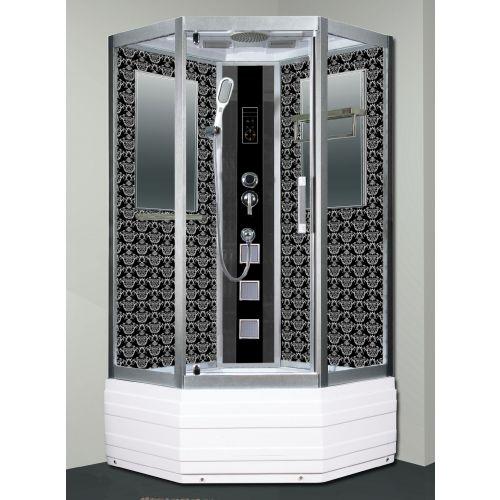 Душевая кабина Niagara Lux 7798B серебристый матовый, черный