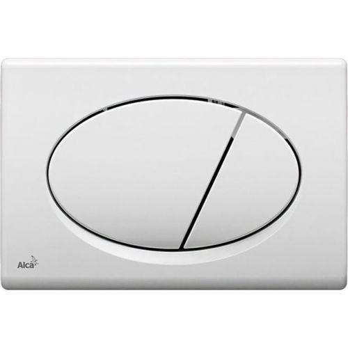Кнопка смыва AlcaPlast ALCA M70 белая