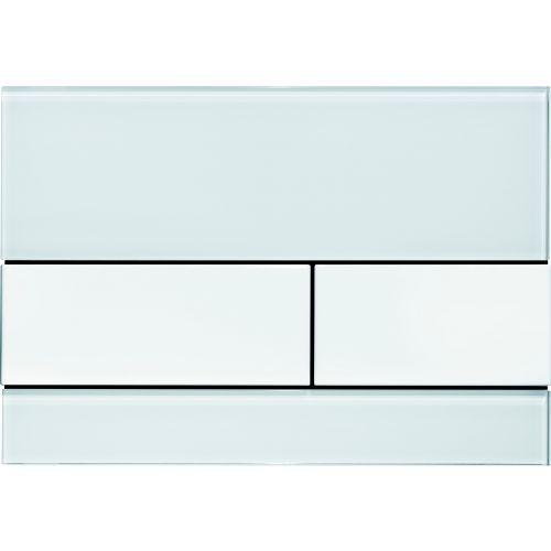 Кнопка смыва TECE Square 9240800 белое стекло, кнопка белая