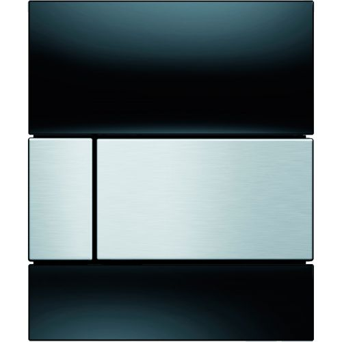 Кнопка смыва TECE Square Urinal 9242806 черное стекло, кнопка сатин