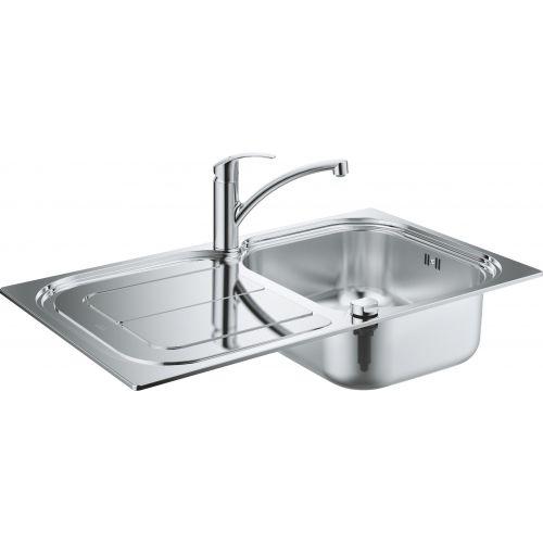 Комплект Grohe Eurosmart 31565SD0 Мойка кухонная K300 31563SD0 + Смеситель Eurosmart 33281002 для кухонной мойки