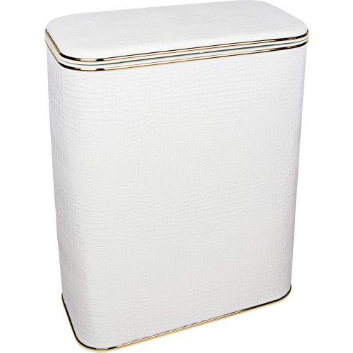 Корзина для белья Geralis KWG-B белая, золото, стандартная