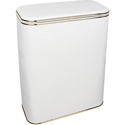 Корзина для белья Geralis KWG-S белая, золото, большая