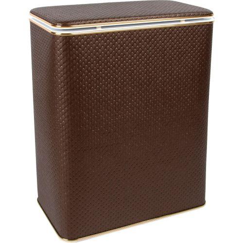 Корзина для белья Geralis PCG-B шоколад, золото, стандартная