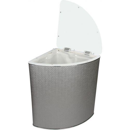 Корзина для белья Geralis PHH-U серебро, хром, угловая