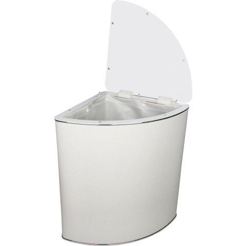 Корзина для белья Geralis PWH-U белая, хром, угловая
