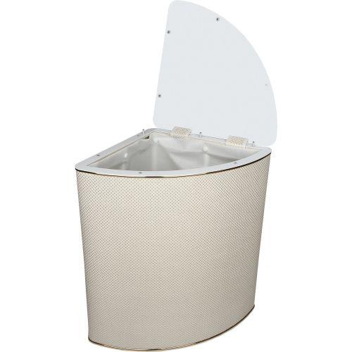 Корзина для белья Geralis RWG-U ромб белый, золото, угловая
