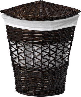 Корзина для белья Wasserkraft Salm WB-270-L темно-коричневая, большая, угловая