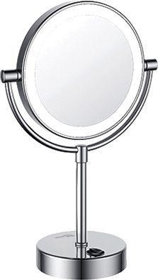 Косметическое зеркало Wasserkraft K-1005 двухстороннее, с подсветкой
