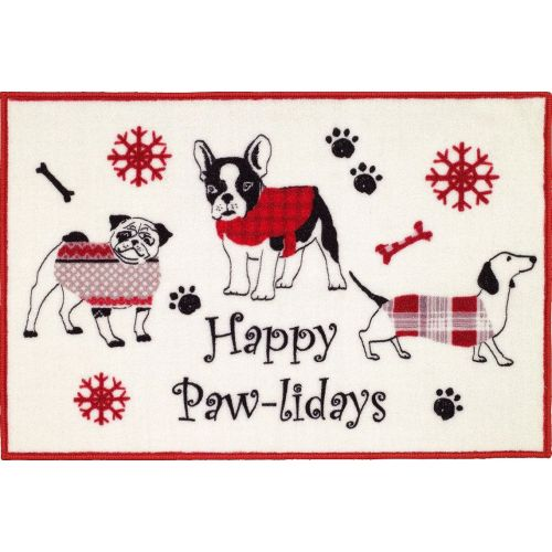 Коврик Avanti Happy Pawlidays 13323J белый