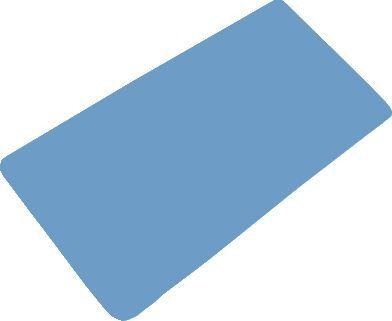 Коврик Bacchetta 36x71 синий в ванну