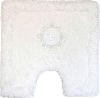 Коврик Bath Plus Royal белый с вырезом