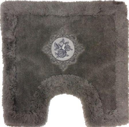 Коврик Bath Plus Royal серый с вырезом