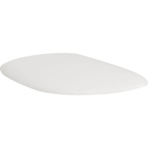 Крышка-сиденье ArtCeram Azuley AZA001 белое матовое, с микролифтом, петли хром