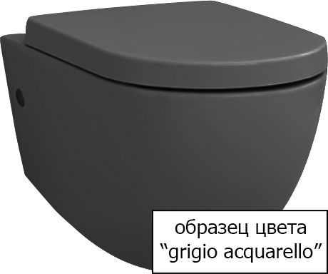 Крышка-сиденье ArtCeram Civitas CIA010 grigio acquarello, с микролифтом