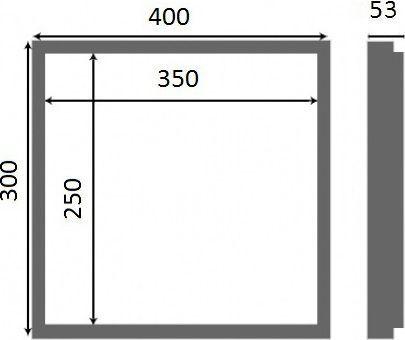 Люк настенный Люкер AL-KR 30x40