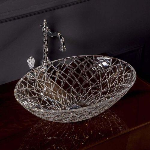 Мебельная раковина Armadi Art NeoArt хрустальная, прозрачная
