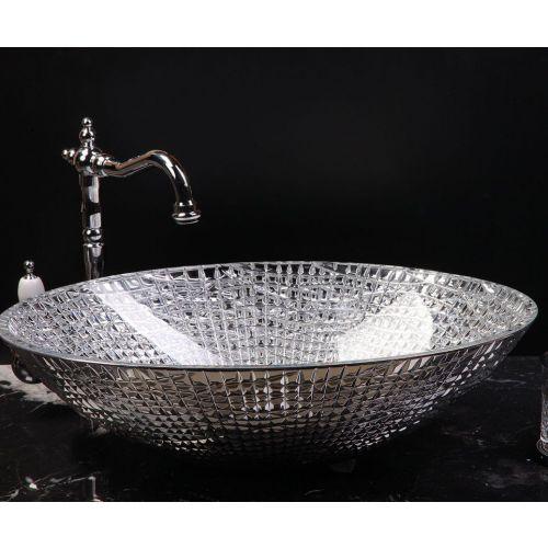 Мебельная раковина Armadi Art NeoArt хрустальная, серебро