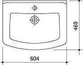 Мебельная раковина Caprigo KX-600