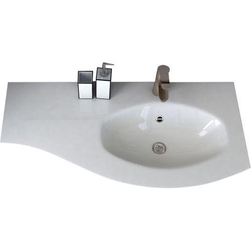 Мебельная раковина Cezares 50154 104х52 R bianco