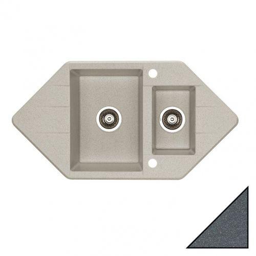 Мойка кухонная Alveus Cubo 80 антрацит металлик