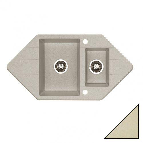 Мойка кухонная Alveus Cubo 80 капучино металлик