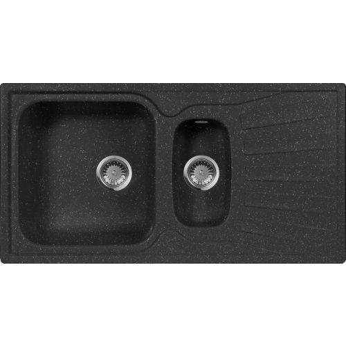 Мойка кухонная AquaGranitEx M-09к черная