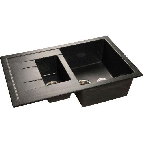 Мойка кухонная GranFest Quadro GF-Q775KL черный