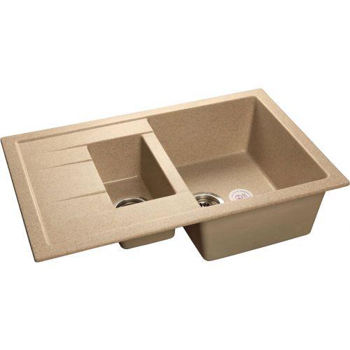 Мойка кухонная GranFest Quadro GF-Q775KL песочный