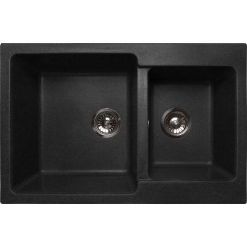 Мойка кухонная Lava D3 чёрный металлик