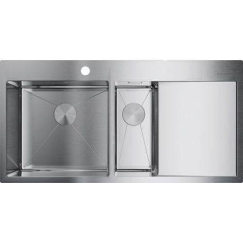 Мойка кухонная Omoikiri Akisame 100-2-IN-L нержавеющая сталь