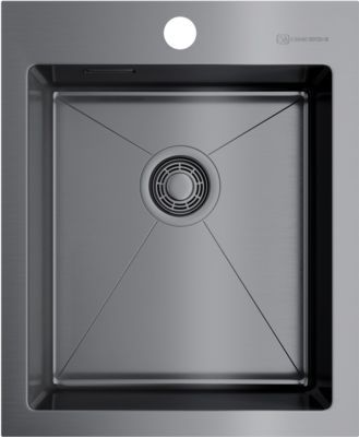 Мойка кухонная Omoikiri Akisame 41-GM 4973094 вороненая сталь