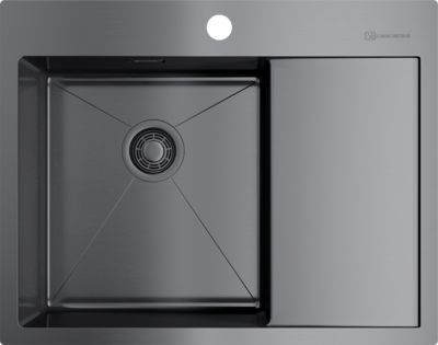 Мойка кухонная Omoikiri Akisame 65-GM-L 4973097 вороненая сталь