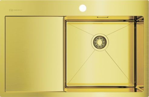 Мойка кухонная Omoikiri Akisame 78-LG-R светлое золото