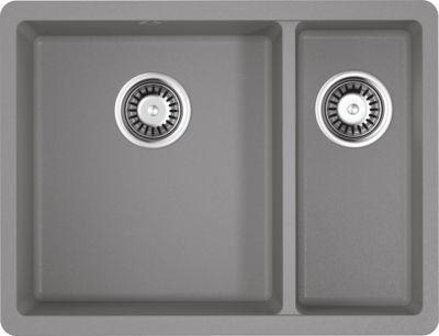 Мойка кухонная Omoikiri Kata 55-2-U-GR leningrad grey