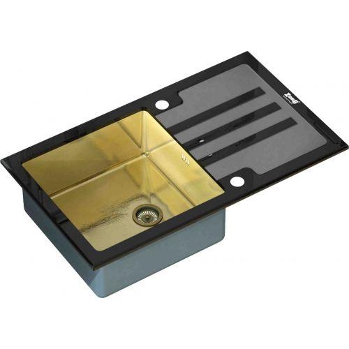 Мойка кухонная Zorg Inox Glass GL-7851-BLACK-BRONZE черное стекло