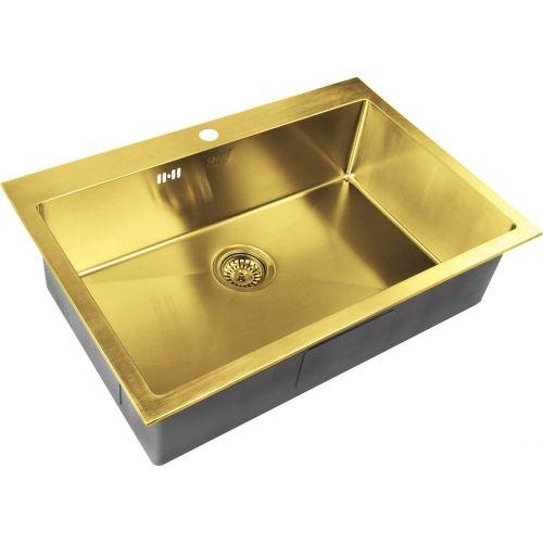 Мойка кухонная Zorg Inox Pvd SZR-7551 bronze