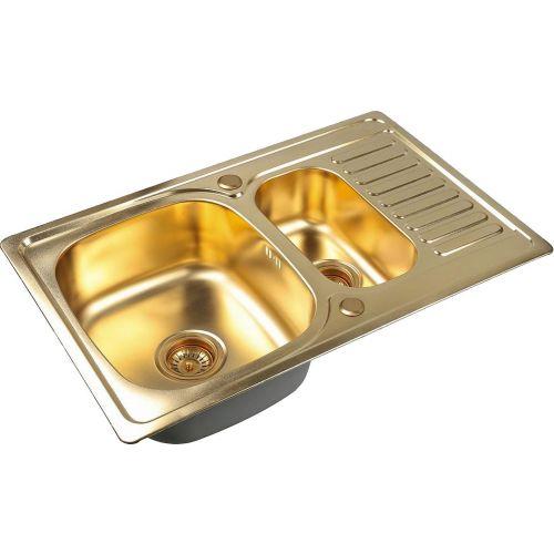 Мойка кухонная Zorg Inox Pvd SZR-78-2-50 bronze