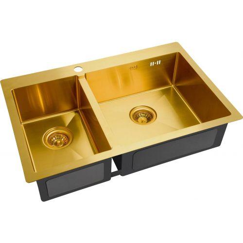 Мойка кухонная Zorg Inox PVD SZR-78-2-51 R bronze
