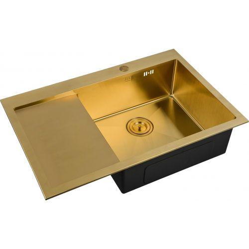 Мойка кухонная Zorg Inox Pvd SZR-7851-R Bronze