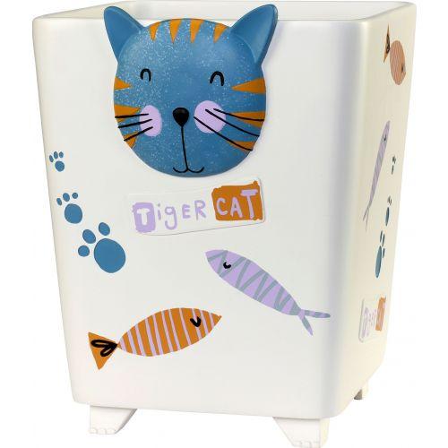 Мусорное ведро Creative Bath Kitty KTY54MULT белое, 5 л