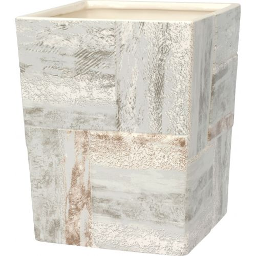 Мусорное ведро Creative Bath Quarry QRY54STN серое, коричневое, 5 л