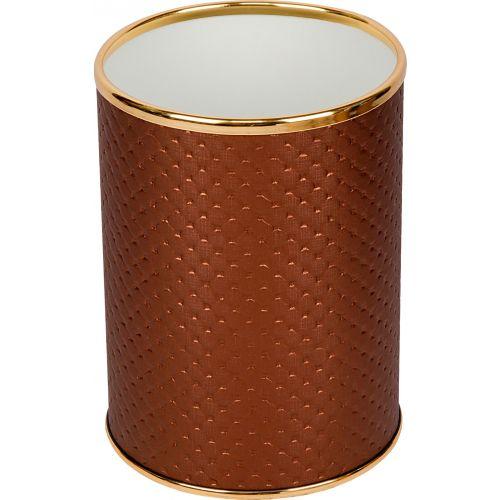 Мусорное ведро Geralis M-PNG-B орех, золото, 3 л