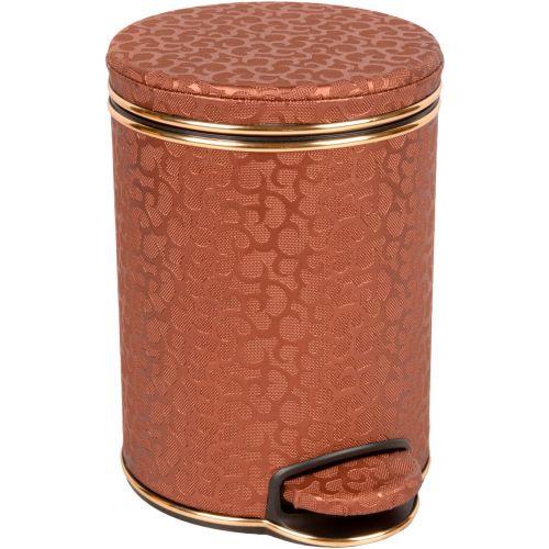 Мусорное ведро Geralis V-FCG-B шоколад, золото, 5 л