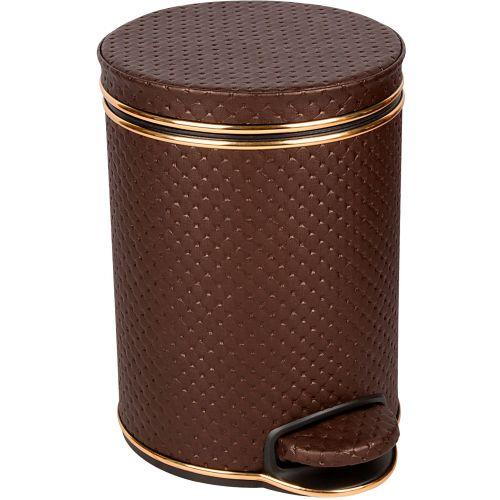 Мусорное ведро Geralis V-PCG-B шоколад, золото, 5 л
