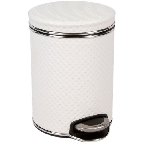 Мусорное ведро Geralis V-PWH-B белое, хром, 5 л