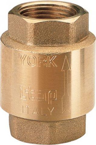 """Обратный клапан Itap 103 York 1"""" пружинный муфтовый, пластиковое седло"""