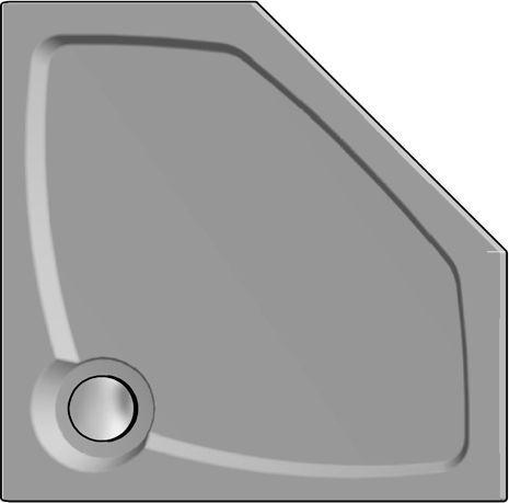 Поддон для душа GuteWetter Deluxe 90x90x2 P серый
