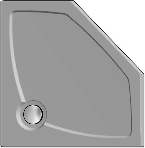 Поддон для душа GuteWetter Deluxe 90x90x4 P серый