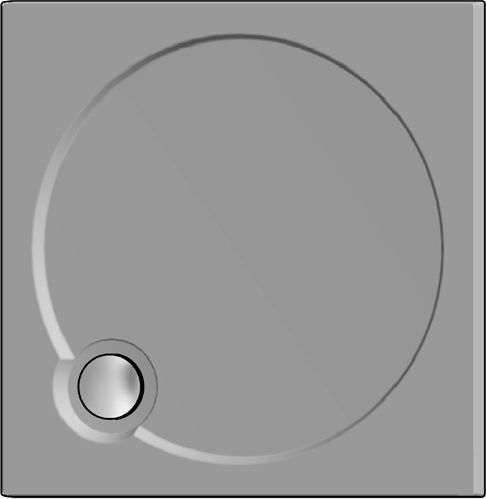 Поддон для душа GuteWetter Deluxe 90x90x4 Q серый